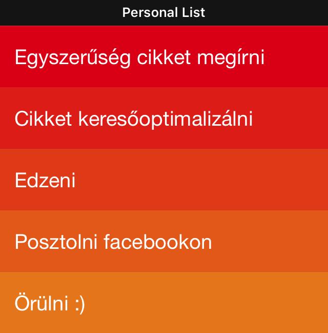 Clear applikáció